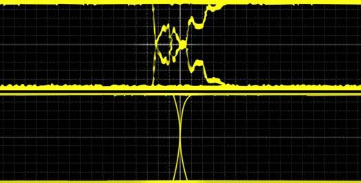 Сравнение искажённого сигнала с шины CAN без согласованной нагрузки с чётким сигналом