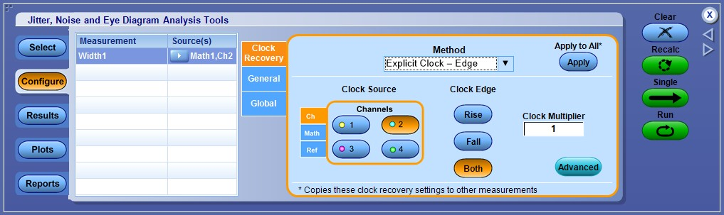 How to create an eye diagram in dpojet tektronix explicit clock edge method should be used when a data clock signal is physically available ccuart Image collections