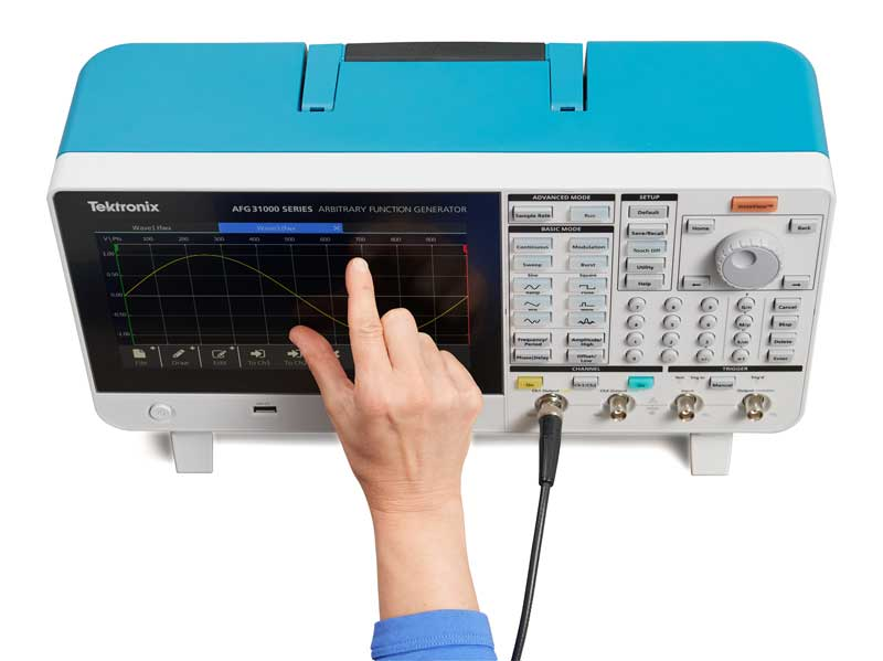 タッチスクリーン・インタフェースを備えたAFG31000シリーズ任意波形/ファンクション・ジェネレータ