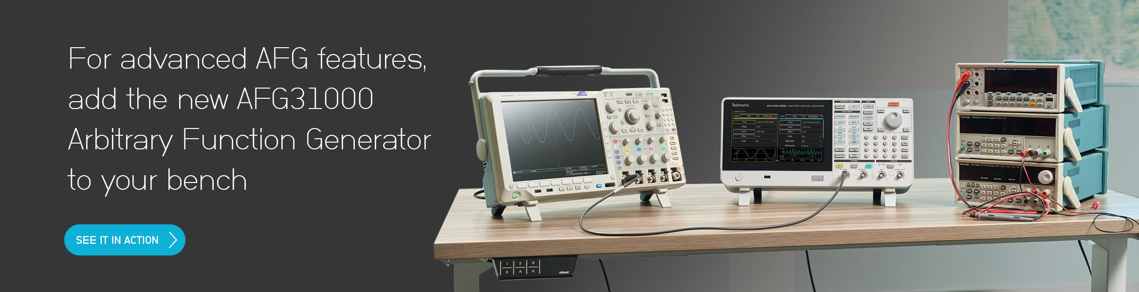 For advanced AFG features, add the new AFG31000 Arbitrary Function Generator tosites