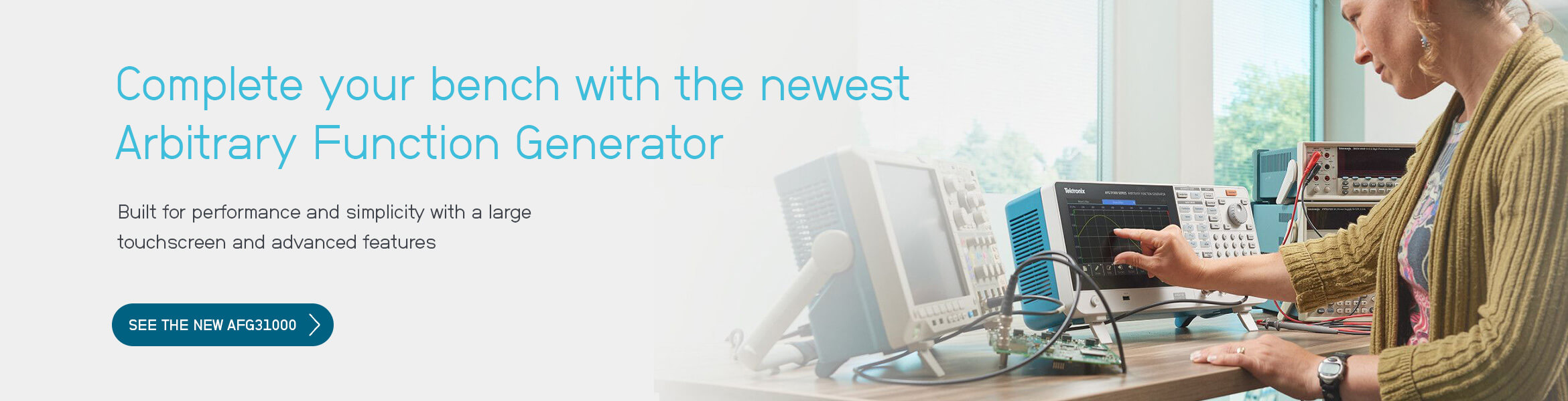 Complete your bench with the newest arbitrary function generator (AFG)