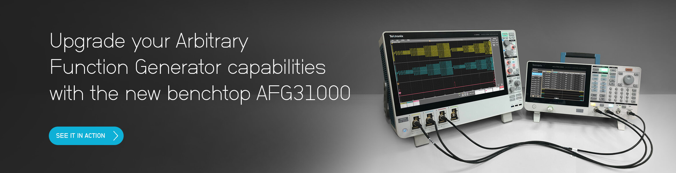 Upgrade your arbitrary function generator capabilities with the new benchtop AFG31000