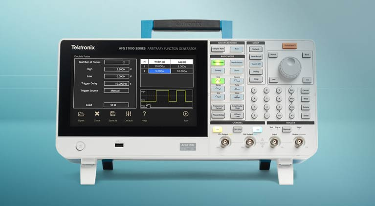 Generate pulses of varying widths with Double Pulse Test on the AFG31000