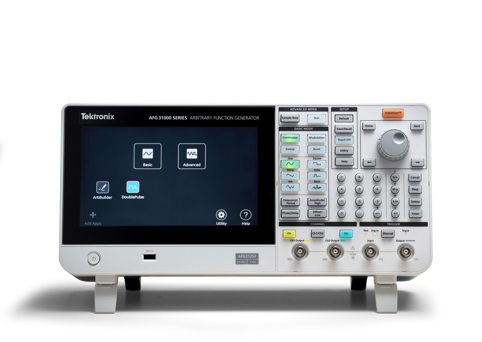 AFG31000 arbitrary function generator with built-in double pulse test functionality