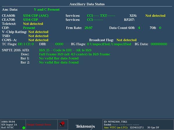 WFM2300 Multiformat Multistandard Portable Waveform Monitor