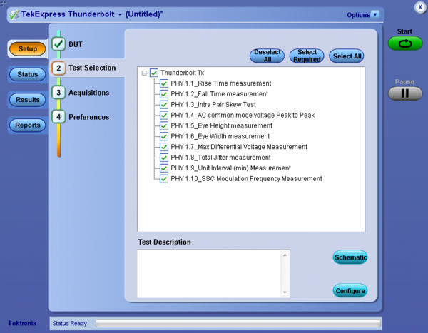 Thunderbolt™ Application Software   Tektronix