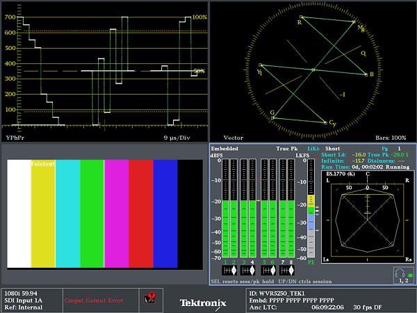 SDI/HDMI Multiformat Waveform Rasterizer Datasheet | Tektronix
